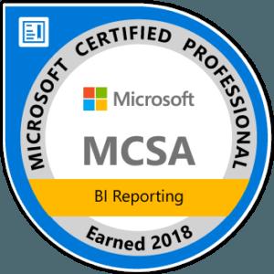 MCSA - BI Reporting