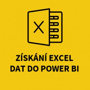 Získání Excel dat do Power BI