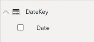 Sloupec Datum bez automatické hierarchie