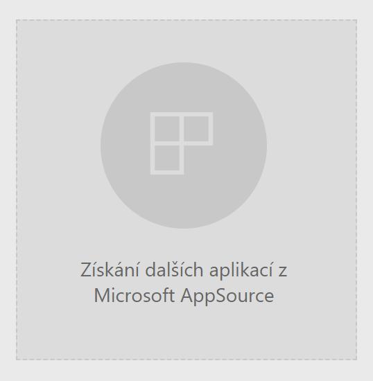 Tlačítko pro přidání aplikace z AppSource