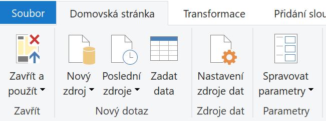 Tlačítko Spravovat Parametry v sekci Parametry