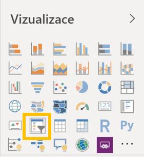 Ikona vizuálnu průřez v sekci Vizuály