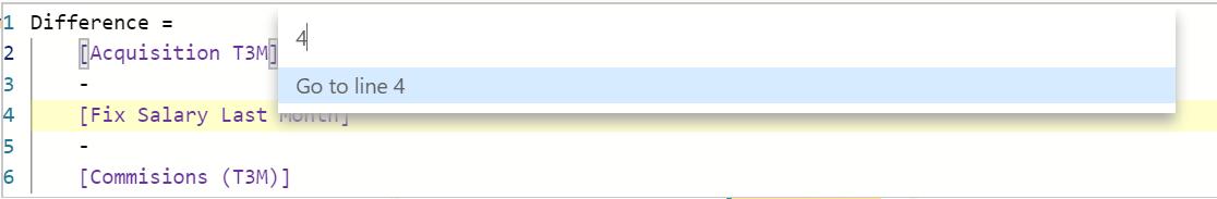 Přesun na konkrétní řádek v kódu
