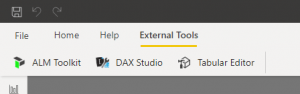 externí nástroje v power bi desktop