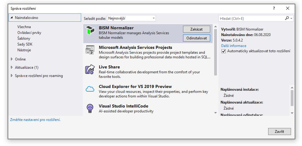 BISM Normalizer a Microsoft Analysis Services Projects ve Visual Studiu