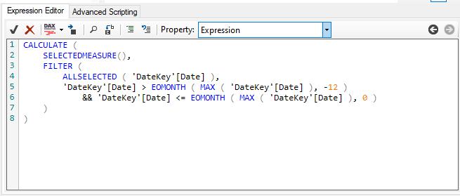 Upravená metrika pomocí funkce SELECTEDMEASURE