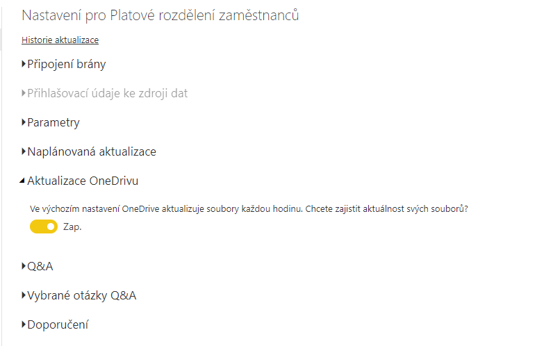 Aktualizace z OneDrive