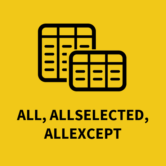 Funkce All, AllSelected, AllExcept
