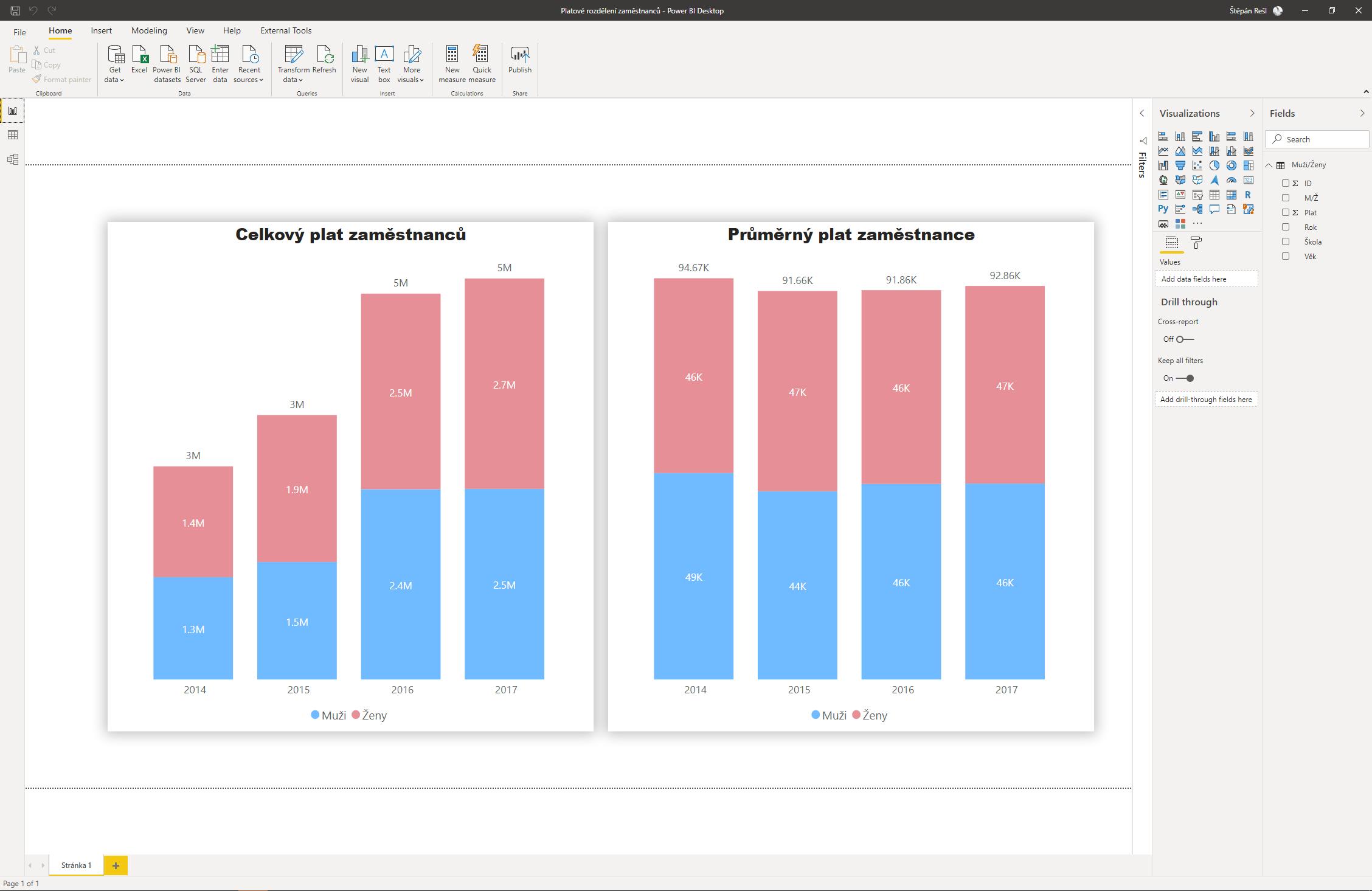 Power BI Desktop záznam reportu