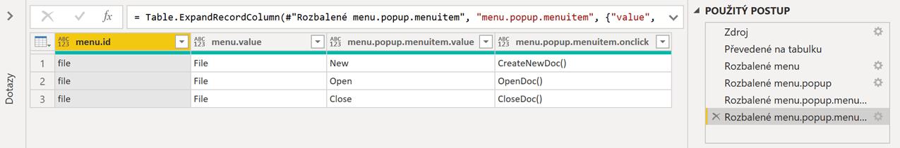 automatická detekce tabulek nahraný JSON