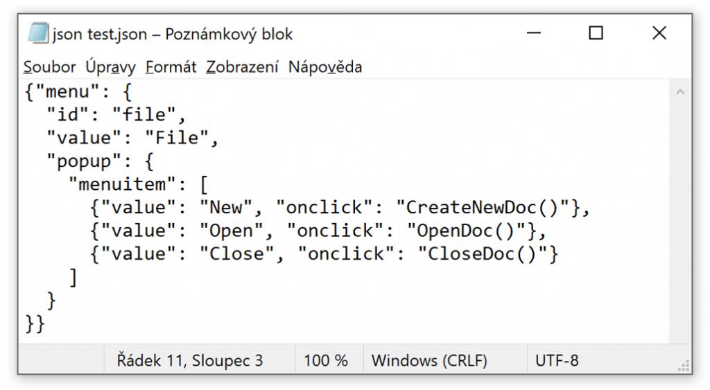 automatická detekce tabulek zdrojová data JSON