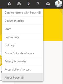 Zjištění informací o Power BI Service