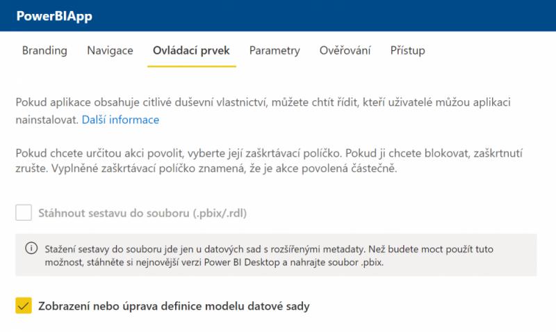 Template Apps - Stažení pbix souboru