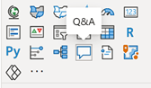 Q&A v Power BI Desktop mezi vizuály