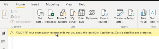 Citlivostní popisek v Power BI Desktop